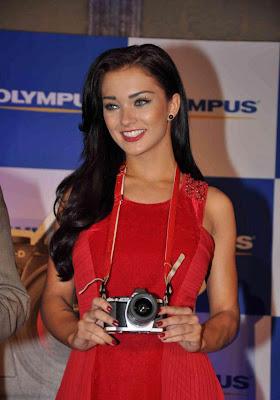 amy jackson launch olympus camera actress pics
