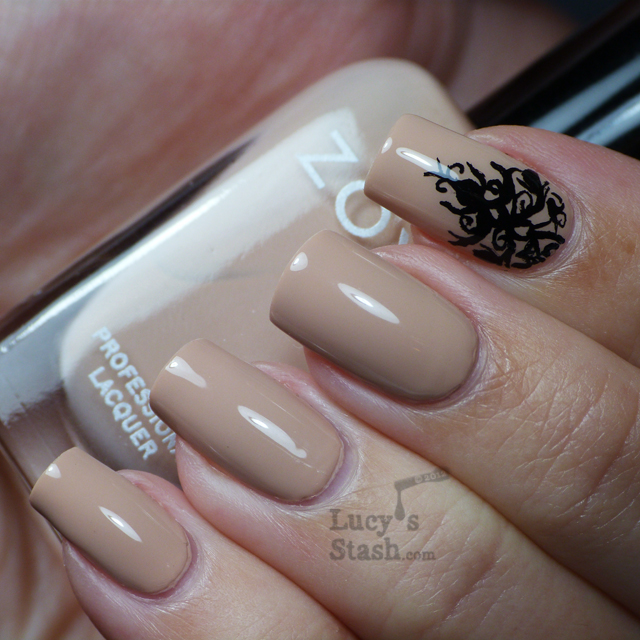 Lucy's Stash - Black lace and nude nails