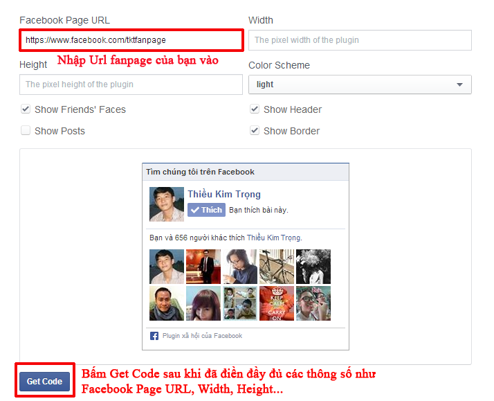 Cách chèn box like fanpage vào website, blog