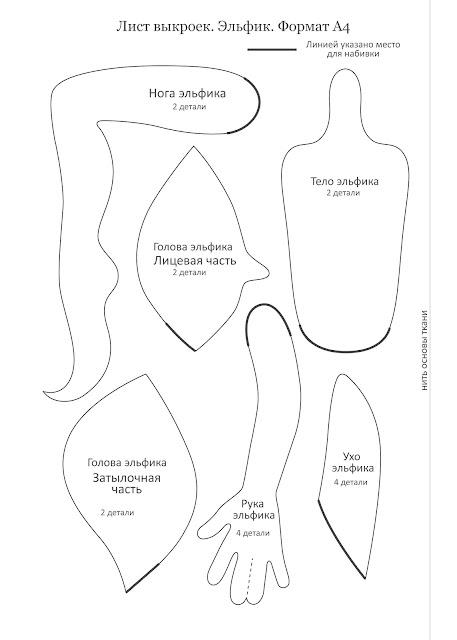 Выкройка эльфа от юлии проскуриной