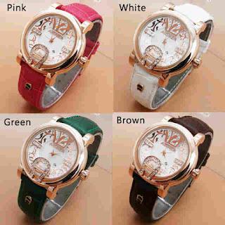 arloji aigner murah batik polos leather pilihan warna
