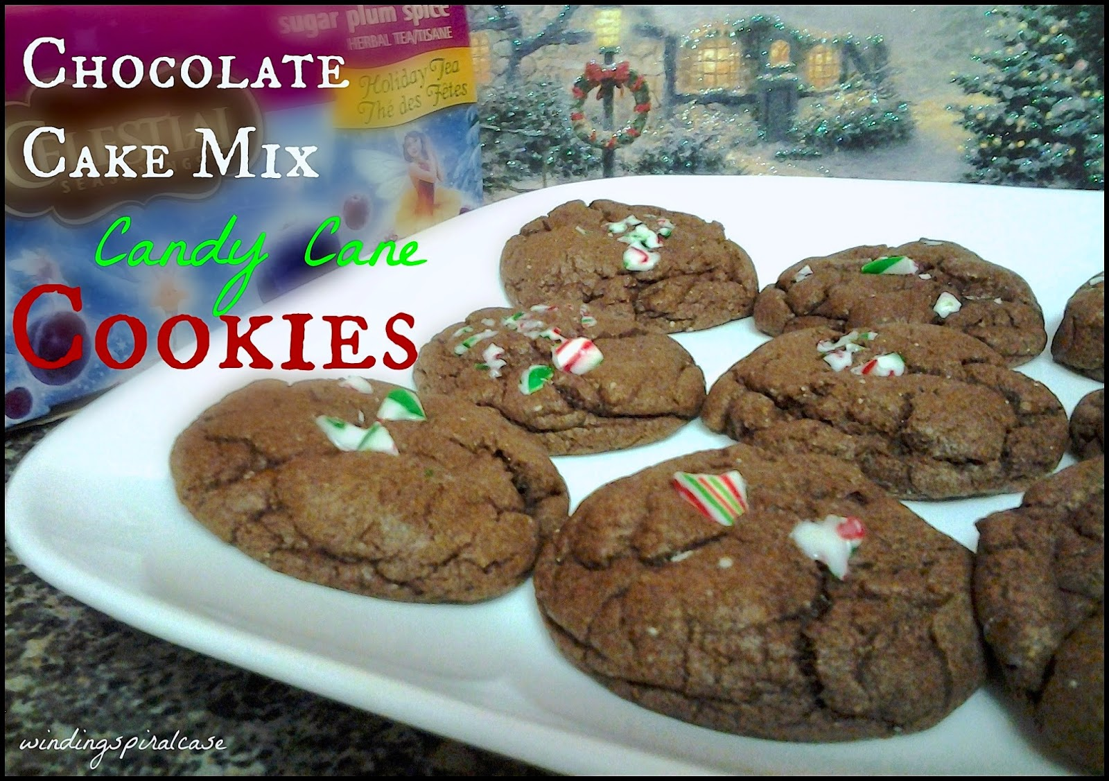 chocolate candy cane cake mix cookies recipe