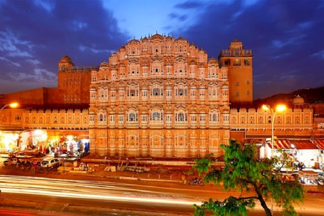 Front Side of Hawa Mahal in Jaipur, Rajasthan