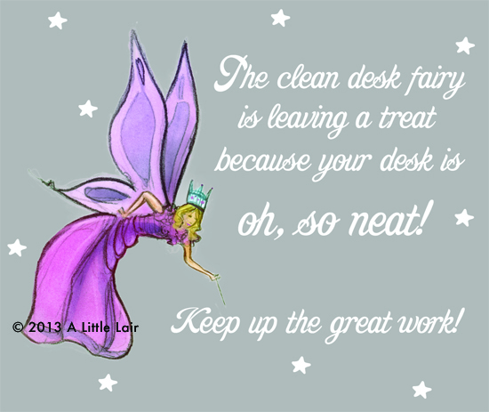 Free desk fairy notecard download | A Little Lair