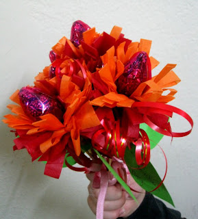 Candy bouquet with chocolates