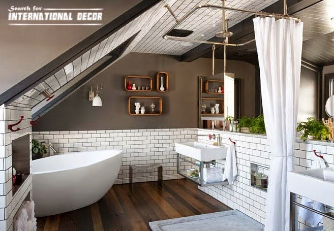 bathroom decor trends,bathroom design ideas,attic bathroom designs