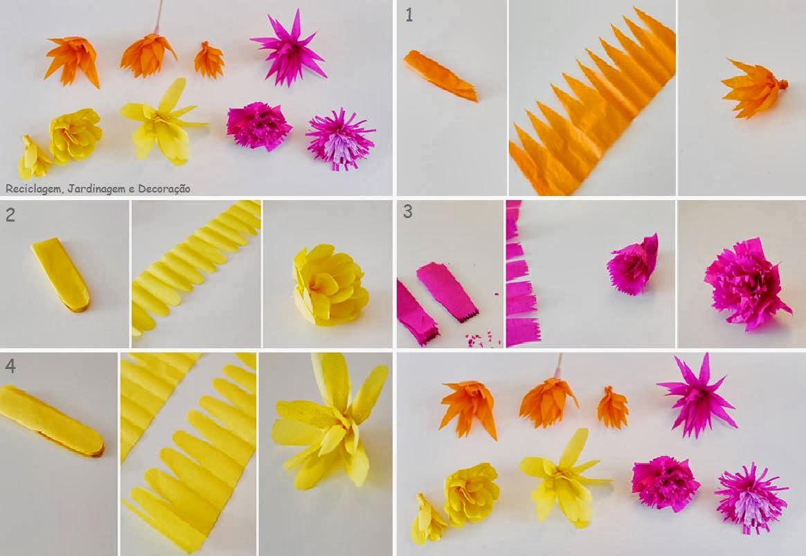 Centros de mesa con flores de papel de seda holidays oo - Centros de mesa ...