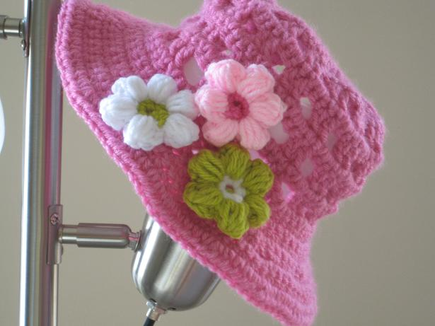 Crochet sun hat for girls newborn to 10 years pdf pattern for sale