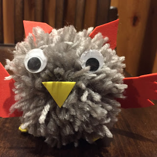 pompom owl, make pompoms, kit, yarn craft
