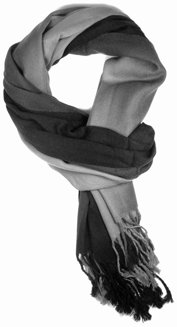 lenço preto e cinza
