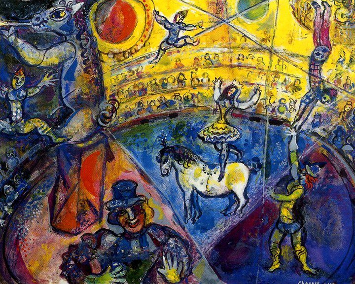 Marc chagall le cirque paris 1967 tutt 39 art pittura for Chagall tableau