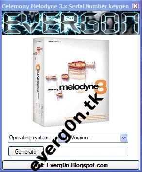 Celemony Melodyne 3.x Serial Number generator by Everg0n ~ Professional Blog