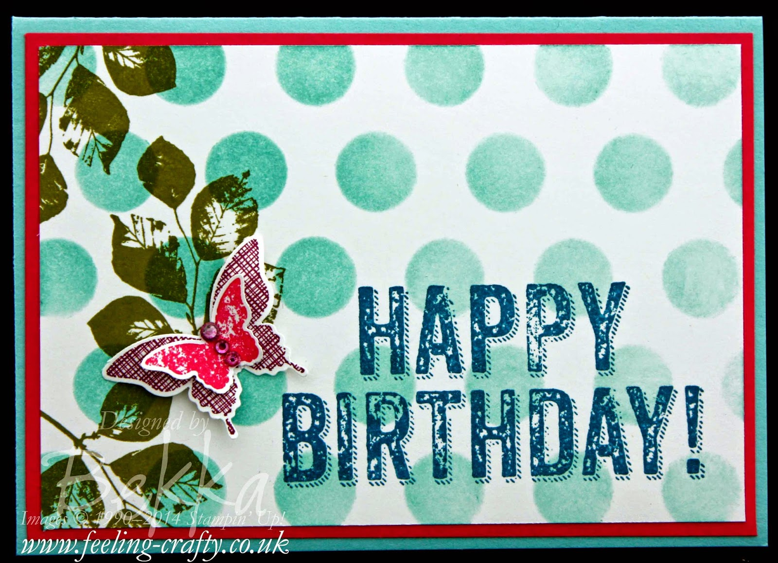 Butterfly Birthday Card made with the Kinda Eclectic and Birthday Surprise Stamps from Stampin' Up! UK