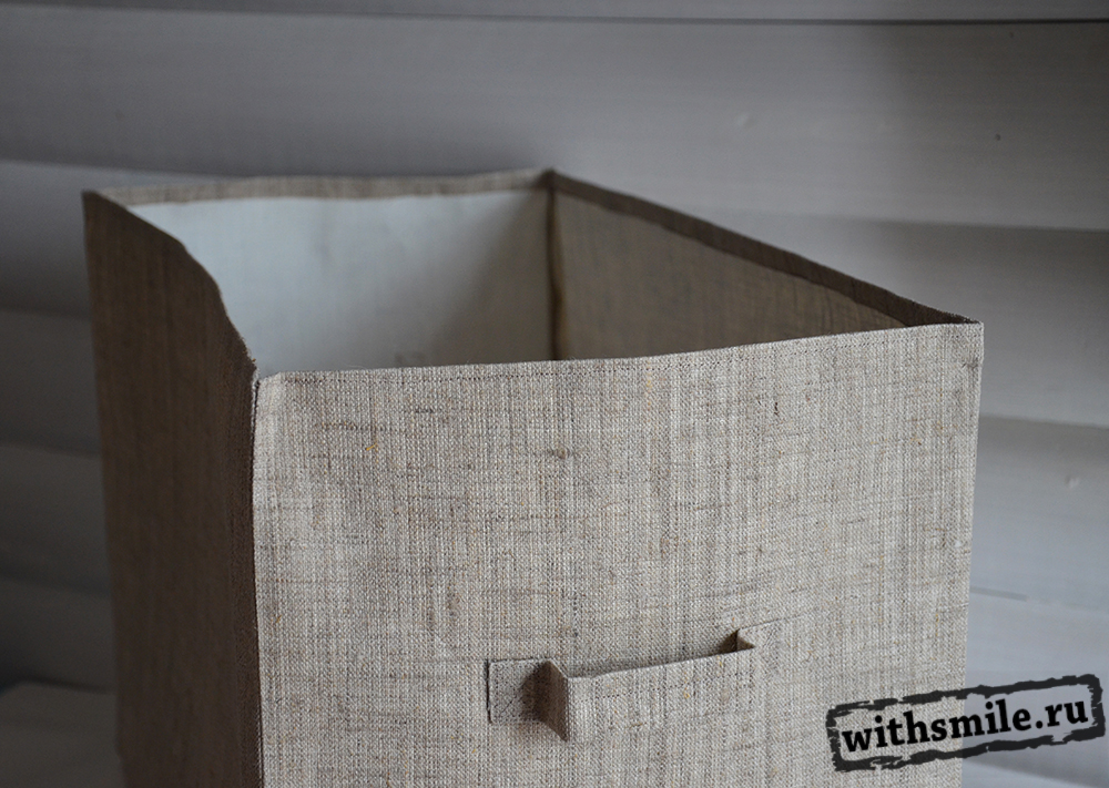 Коробка для вещей, своими руками, лен, холст, туесок, Organizing ideas, fabric boxes, burlap, организация вещей, порядок в доме