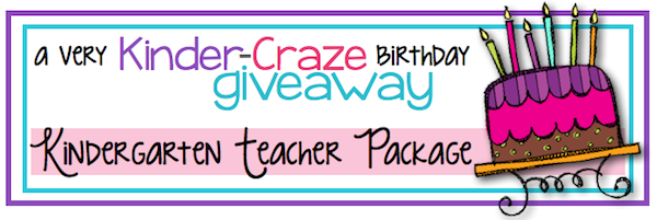 Kinder-Teacher Resources GIVEAWAY at Kinder-Craze