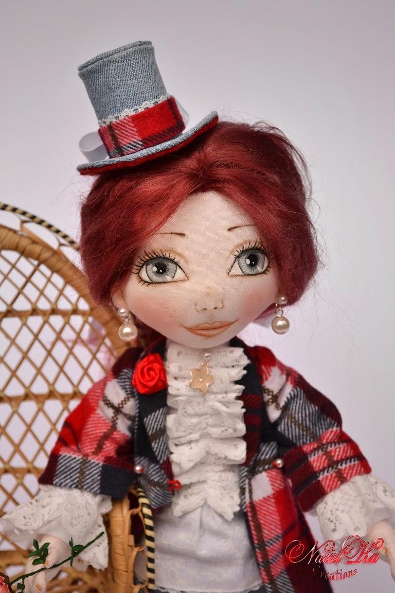 Rag art doll. Авторская текстильная шарнирная кукла