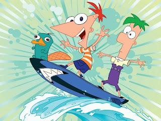 Phineas y Ferb en la playa