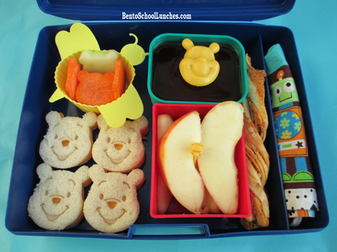 Winnie The Pooh mini sandwiches bento school lunches