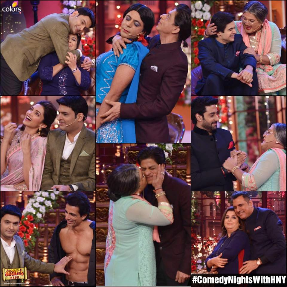 Happy New Year team at  Comedy Nights With Kapil to promote their movie