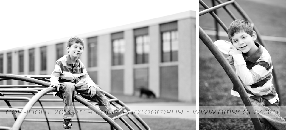 boy on school playground