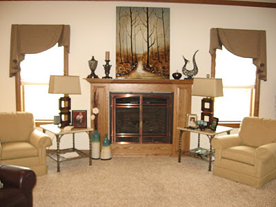 Window fashions november 2011 for Fireplace with windows on each side