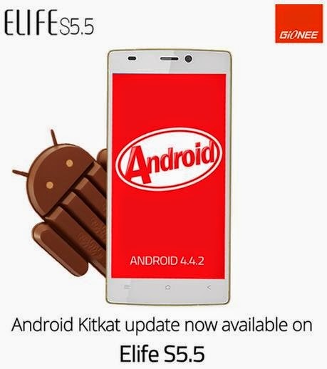 Gionee Elife S5.5 Android Kitkat Update Now Available