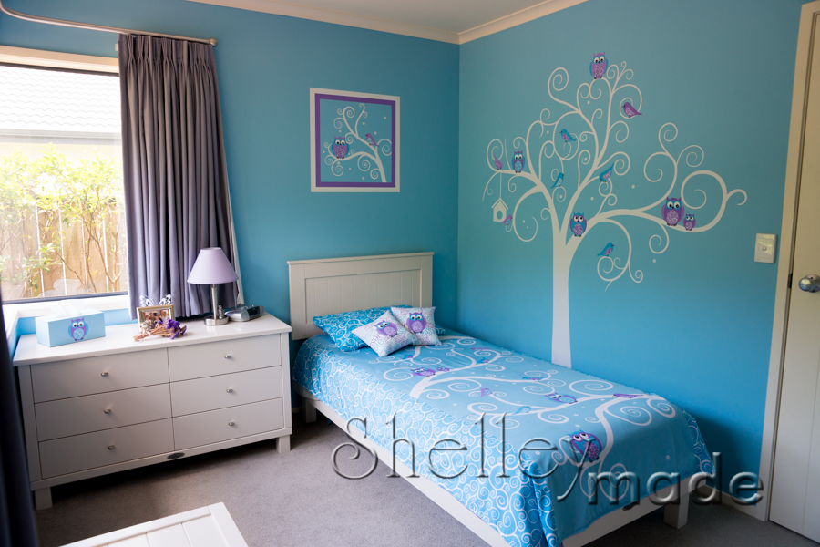Marvelous Girls Bedroom Ideas Blue And Purple Awesome Design