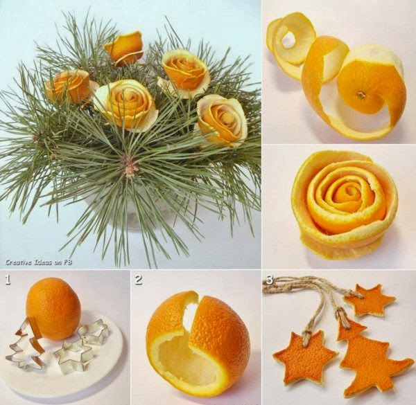 DIY Orange Peel Decoration