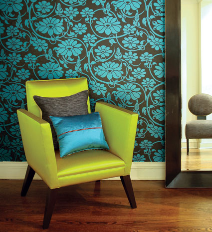 Accent Wall With Eye Popping Colors! Wonderful Combination Of Blue And  Apple Green, So Unusual And Very Striking. If You Have It In You, ...