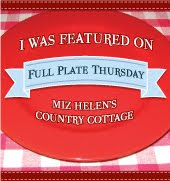 I was featured on Full Plate Thursday @ Miz Helen's Country Cottage.