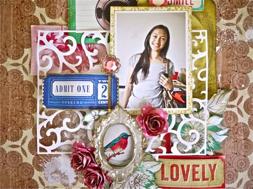 Sizzix Die cutting Tutorial: Lovely Scrapbook Layout by Aida Haron