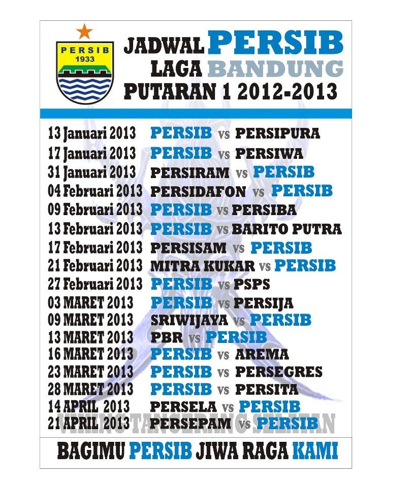 JADWAL PERSIB 2012-2013.