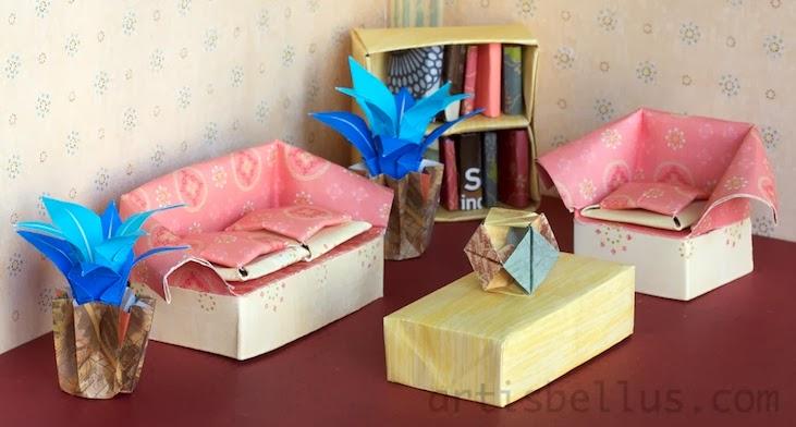 Origami Toys Dollhouse Living Room