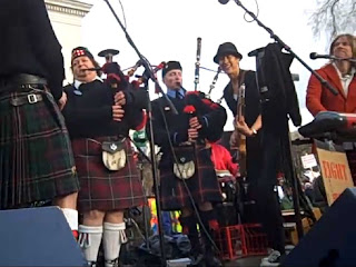 This is Michelle Shocked with the Madison Firefighters bagpipe band, April 4, 2011