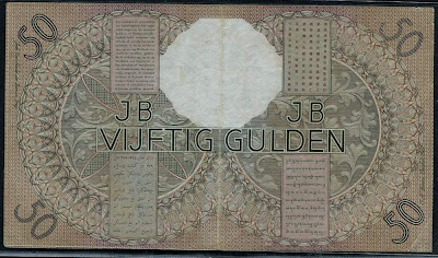 Netherlands East Indies 50 Gulden banknote