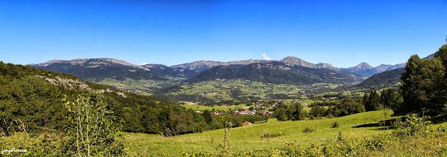 Panorama depuis le massif des Bauges