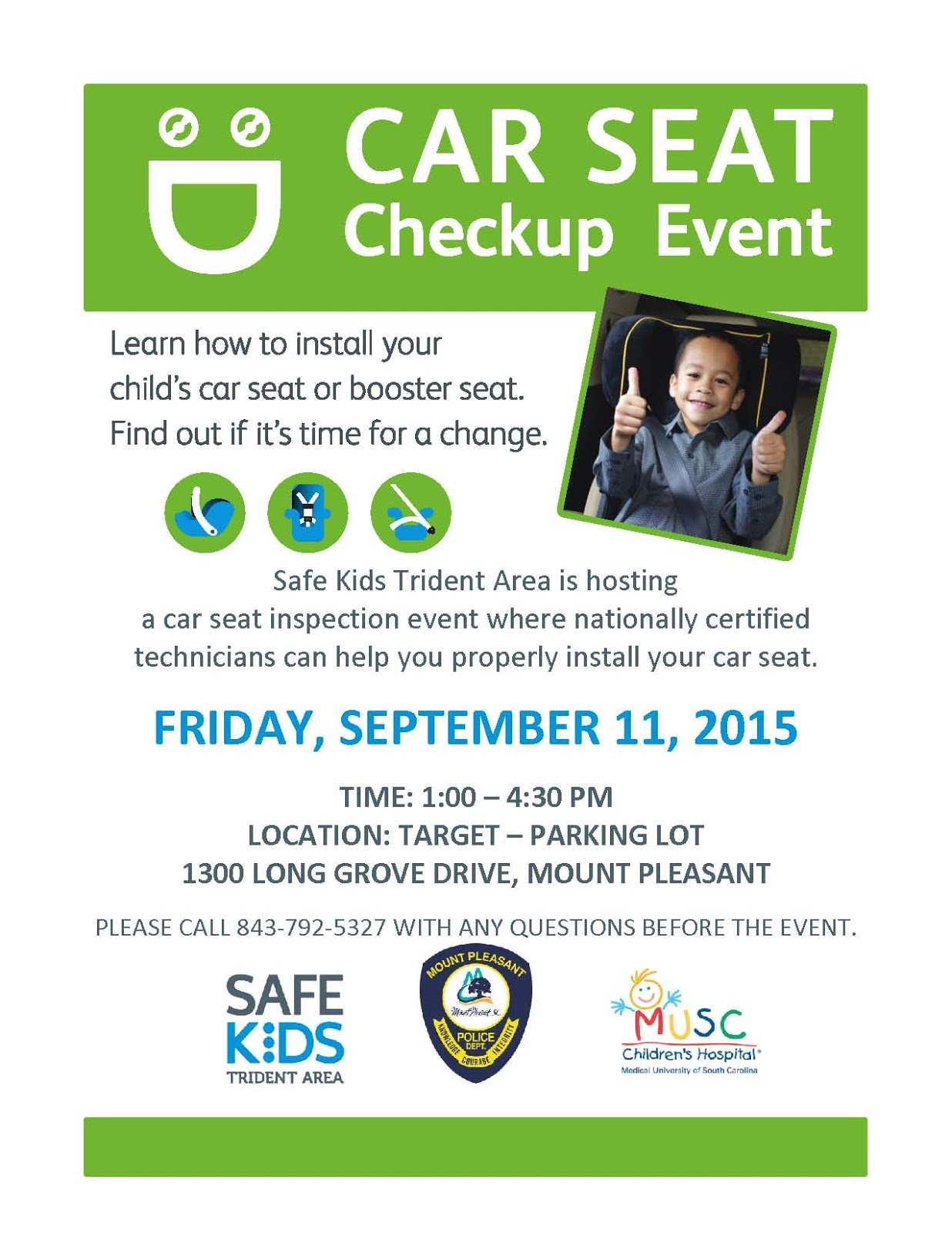 MPPD News: Car Seat Checkup Event