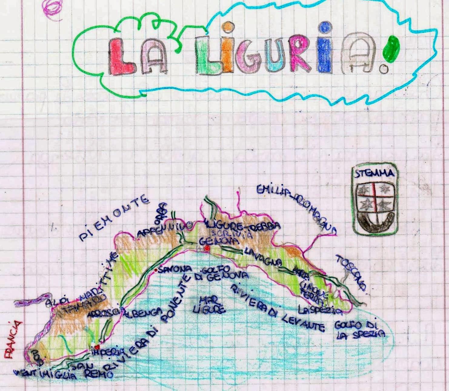 Super Geografia - Le regioni d'Italia - La Liguria - Spiegazioni e prova  UD44