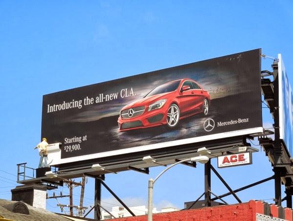 Mercedes-Benz CLA 3D mannequin billboard