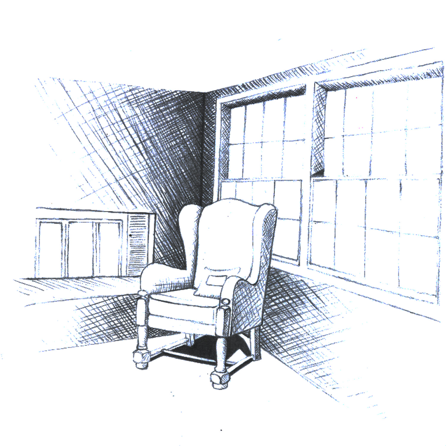 Corner Of A Room Sketch