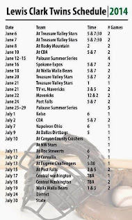 Revised Twins Schedule