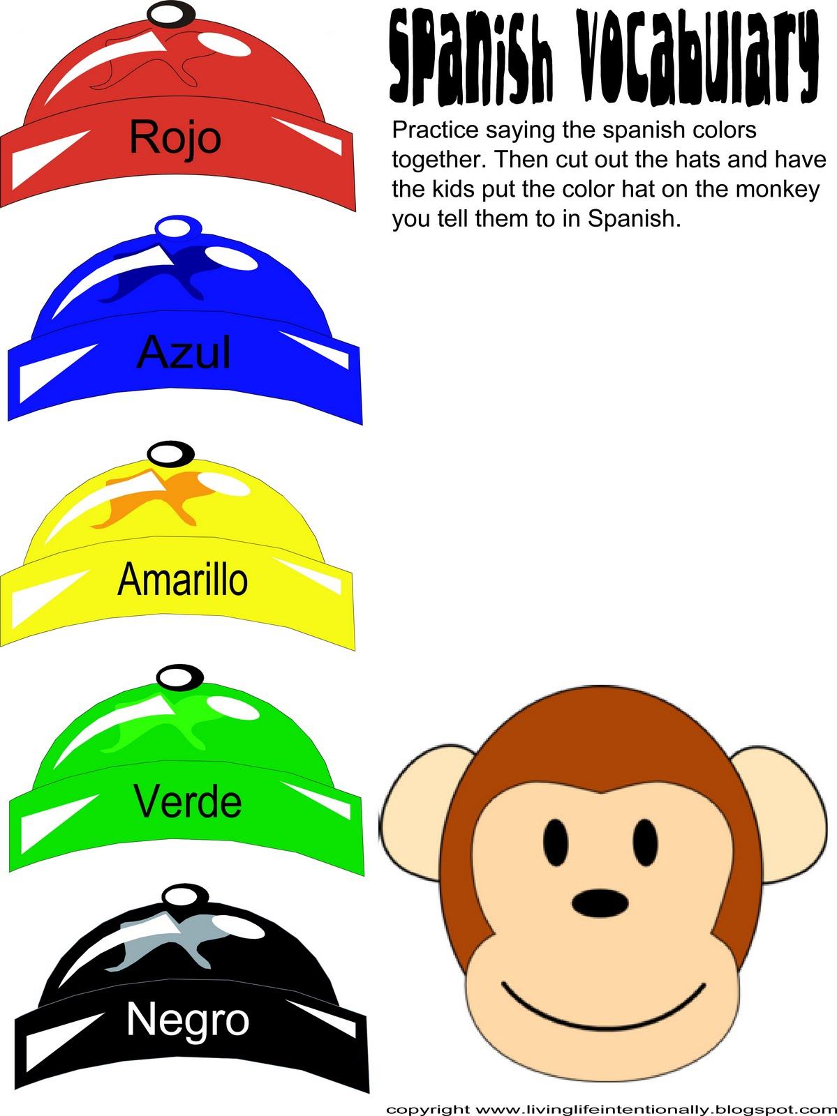Exceptional image in spanish for preschoolers free printable
