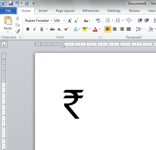 How To Insert Currency Symbol In Word Vouchers For Flipkart