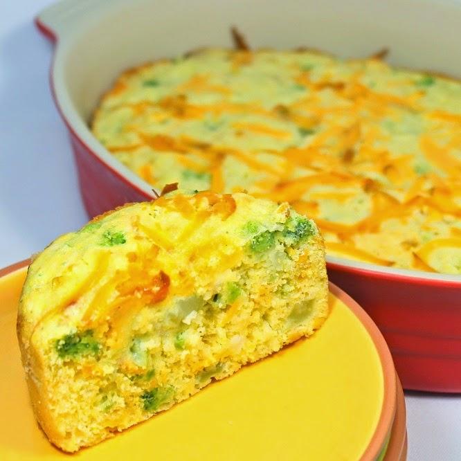 Broccoli Cheddar Cornbread Recipe — Dishmaps