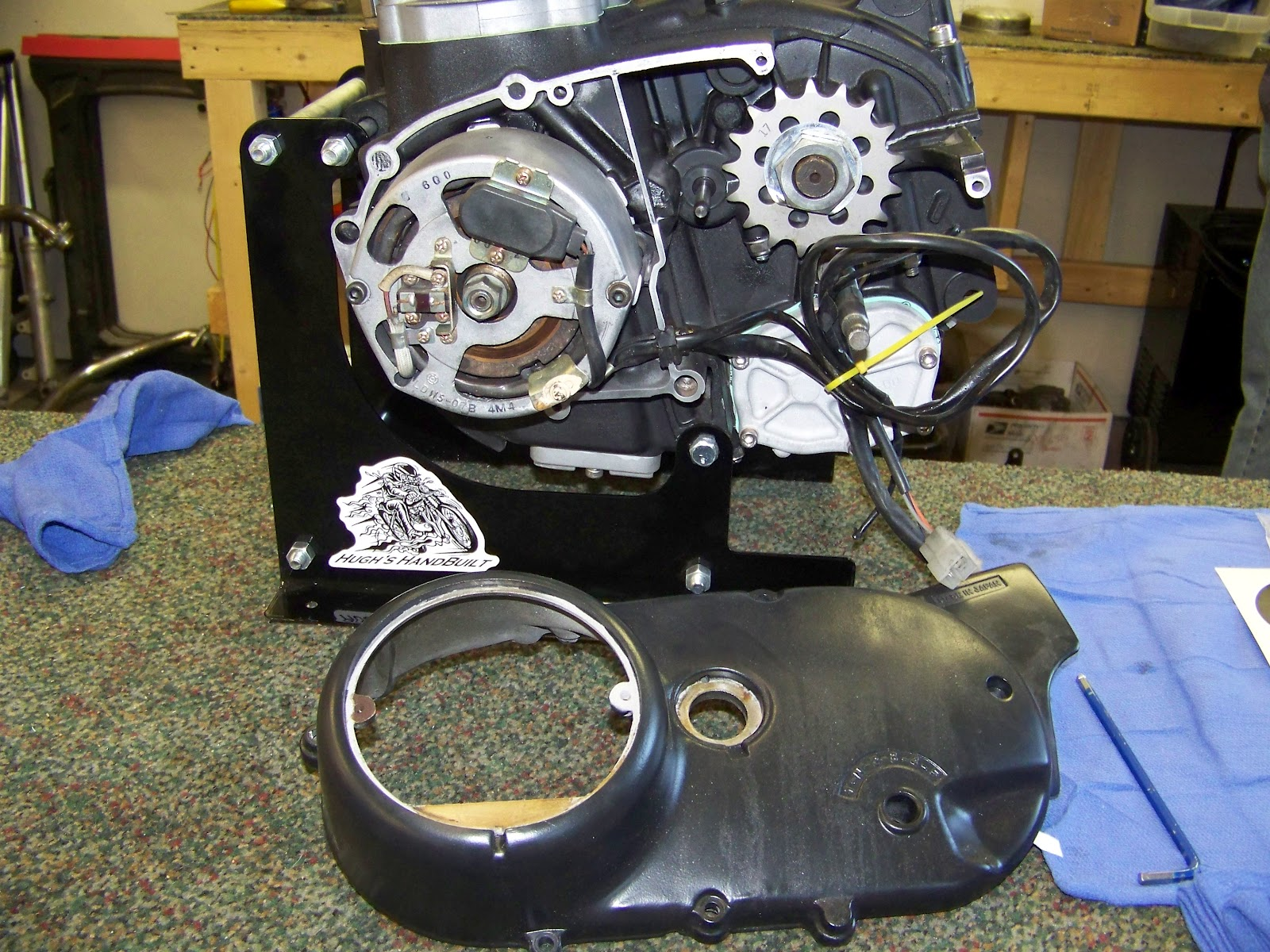 How To Install Your Hughs Handbuilt Pma System On Xs650 Wiring Harness Routing You Wont Be So Lucky Have The Already Tidied Up Like Above Youll Remove Chain Guard From Engine It Slips Over Shift Shaft