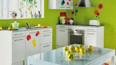 inspirasi ide desain warna dapur cantik minimalis modern terbaru indah mempesona