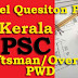 Model Question Paper - Draftsman, Overseer - Civil