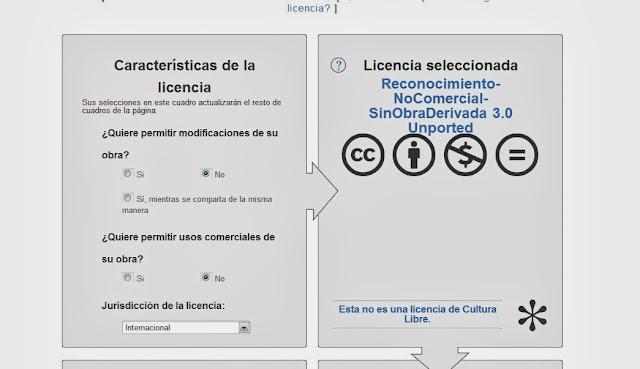 licencia para blog