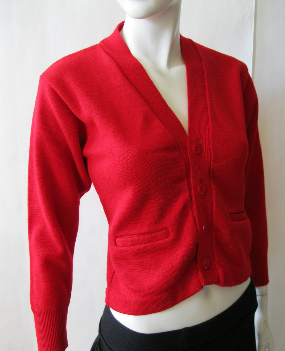 vintage red cardigan #vintage #cardi