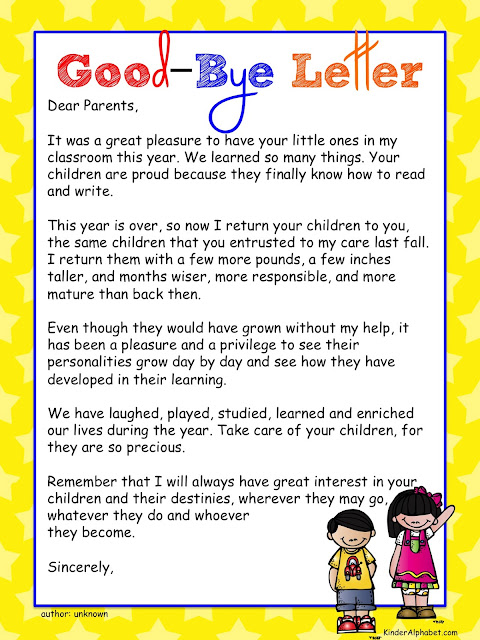 ... an old version of the good bye letter on tpt this one is much better